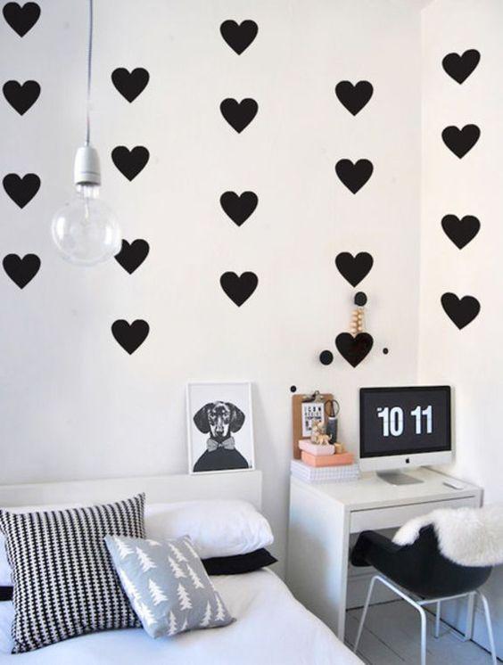adesivo de parede coração