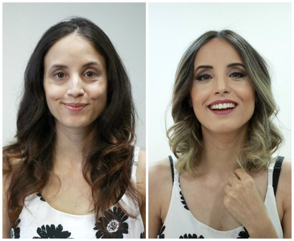 antes e depois glena