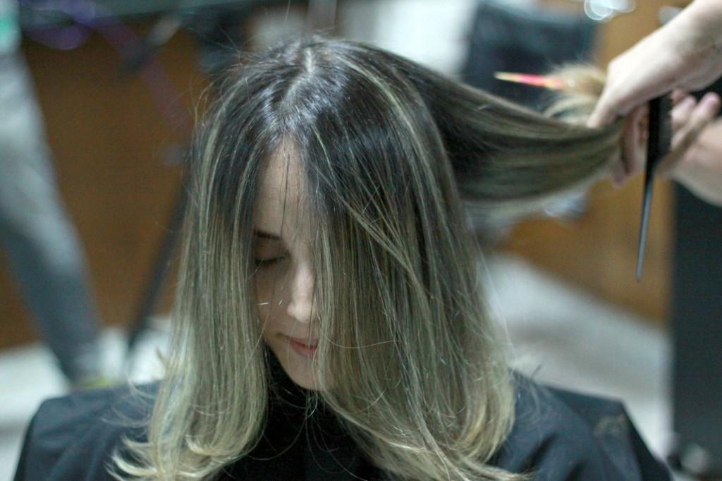 novo cabelo long bob durante 6
