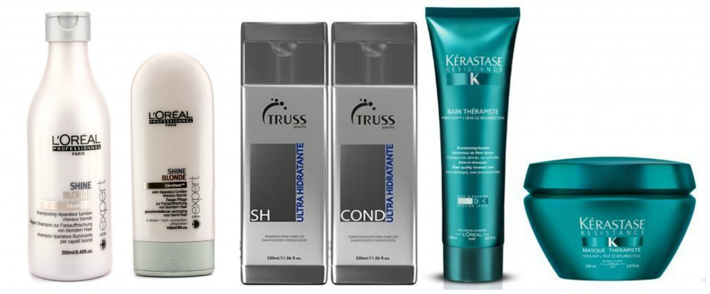 produtos para cabelos loiros danificados