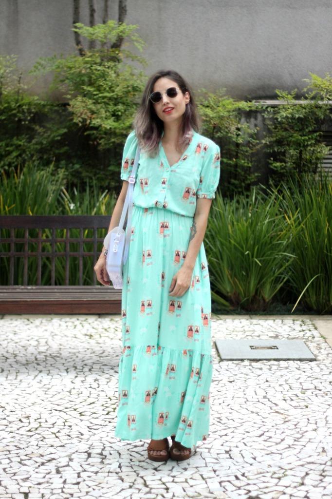 look vestido longo doralice
