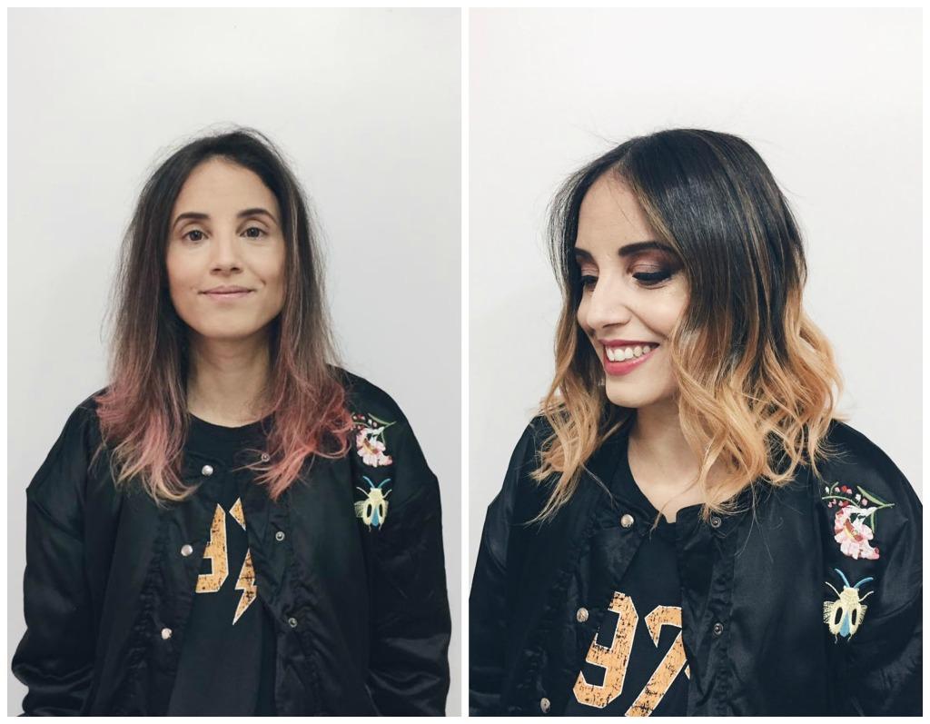 antes e depois cabelo blorange